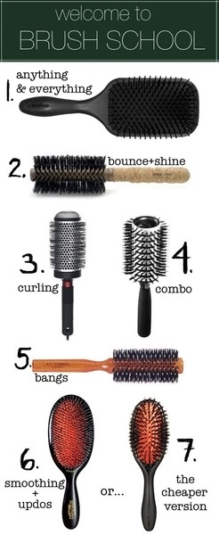 Brush up on your brush knowledge. A simple guide to help u decide what each brush is used for
